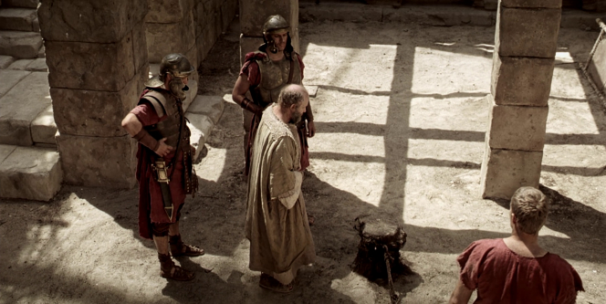 2 Timothy 4:1–8, Paul kneels down to his execution