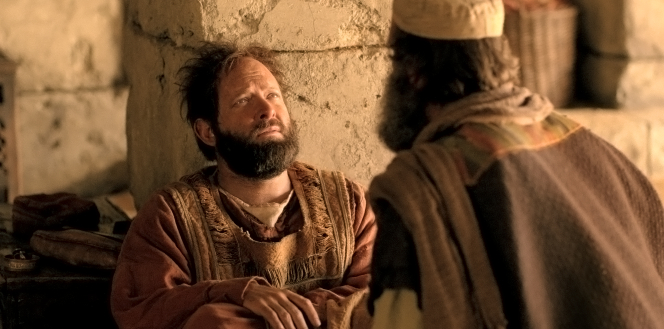 Acts 22, Saul is blinded, and Ananias comes to heal him
