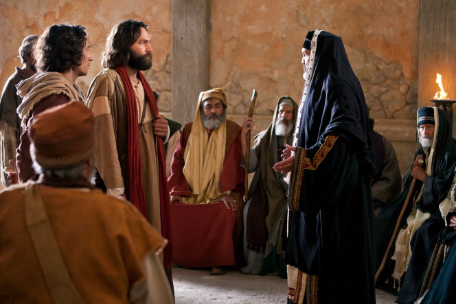 Acts 4:5–21, Peter is questioned by a priest