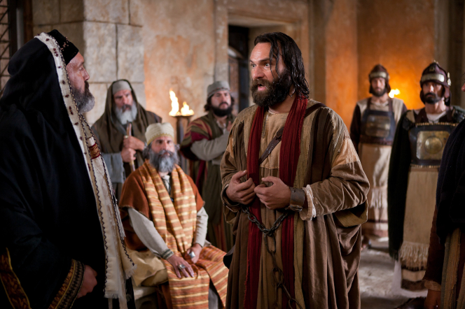 Acts 5:12–42, Peter testifies of Christ to the priests who threaten to punish him