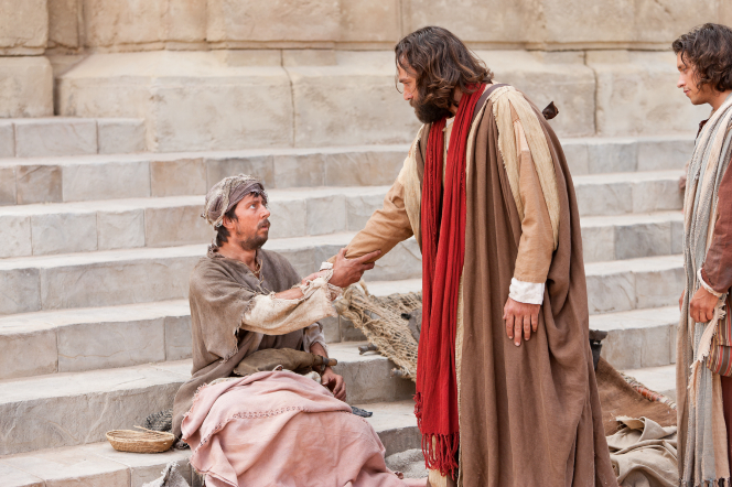 Acts 3:1–8, Peter commands a crippled man to rise and walk