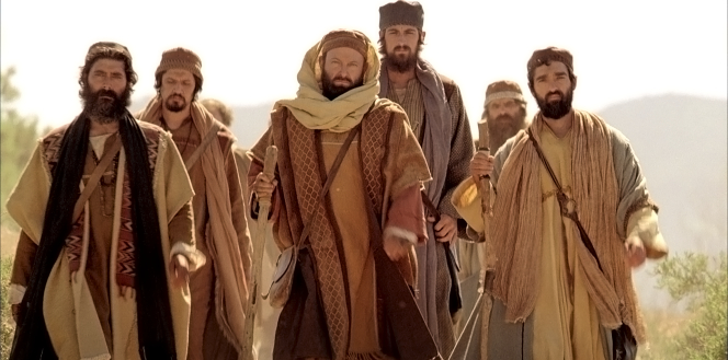 Acts 22, Saul walking with his company to Damascus
