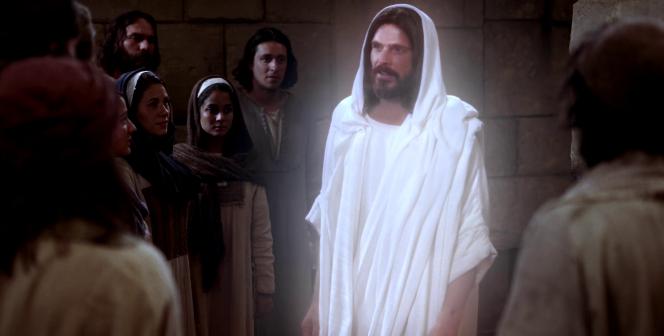 Luke 24:36–41, 44–49; John 20:21, Resurrected Jesus Christ approaches Apostles