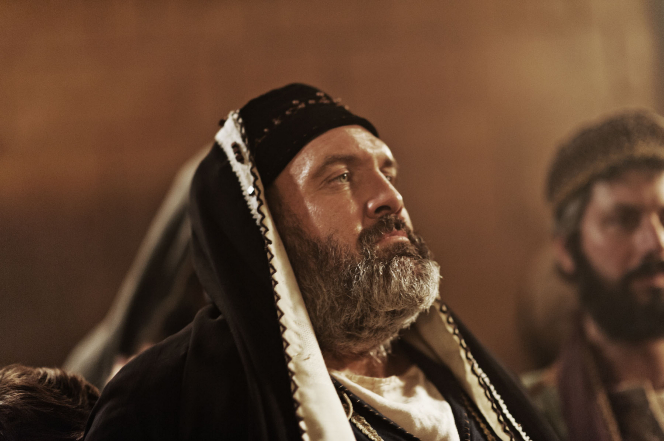 Matthew 26:57-75, Caiaphas tries Jesus.