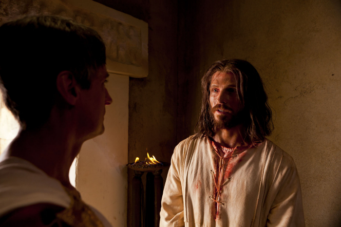 Matthew 27:1–2, 11–25, Pilate speaks with Jesus in private