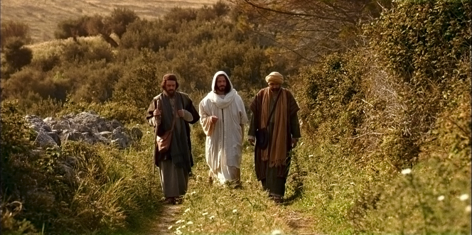 Luke 24:13–33, Resurrected Christ walks with two disciples