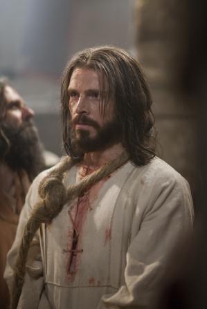 Matthew 26:57–75, Christ standing in captivity