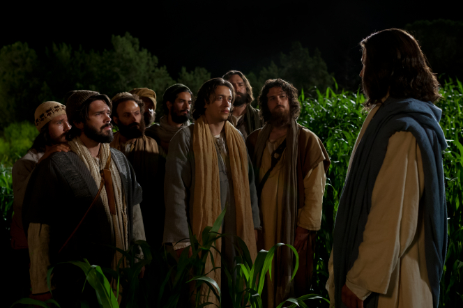 Luke 22:31–34, Jesus speaks to His Apostles near Gethsemane