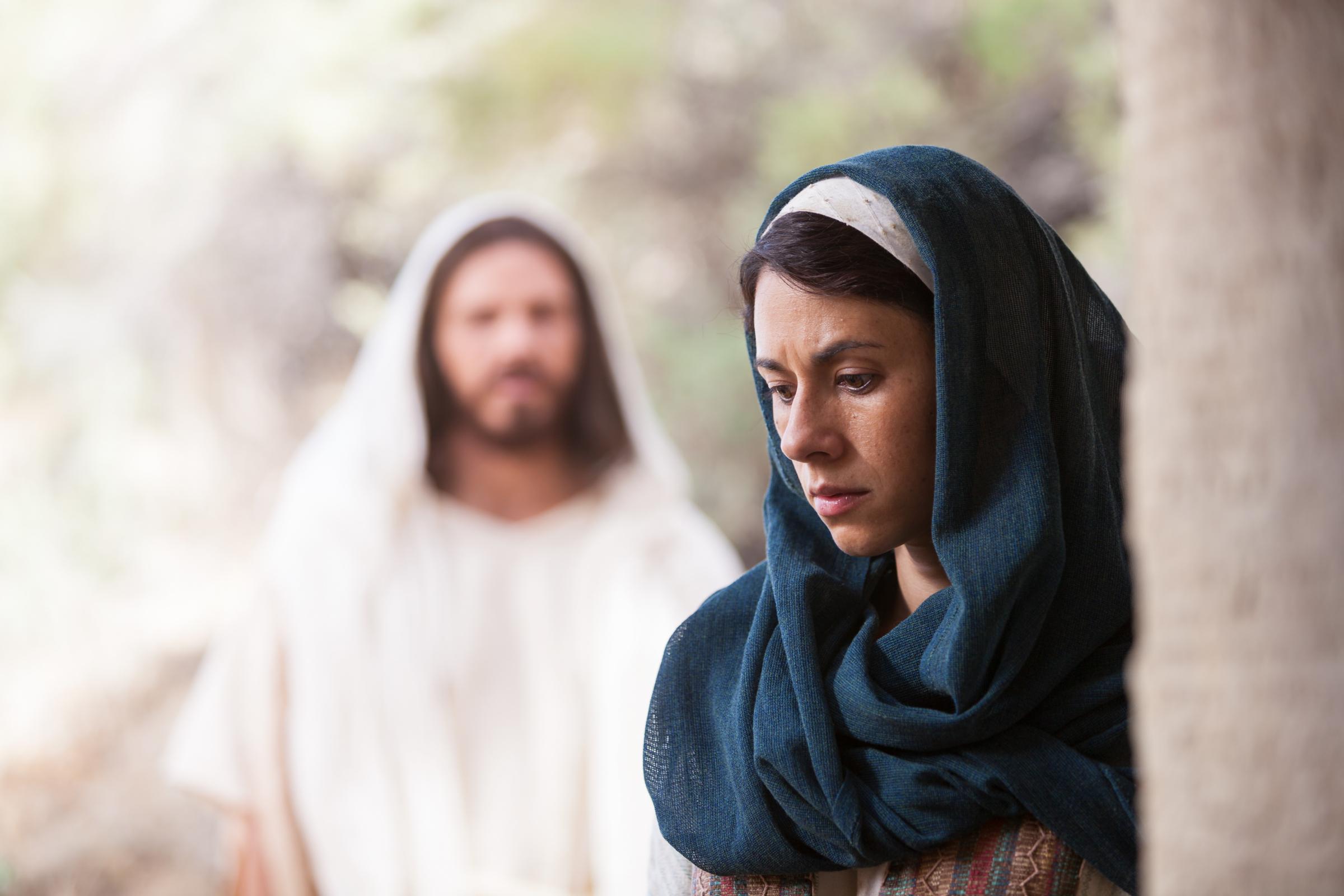 martha and mary meet jesus face