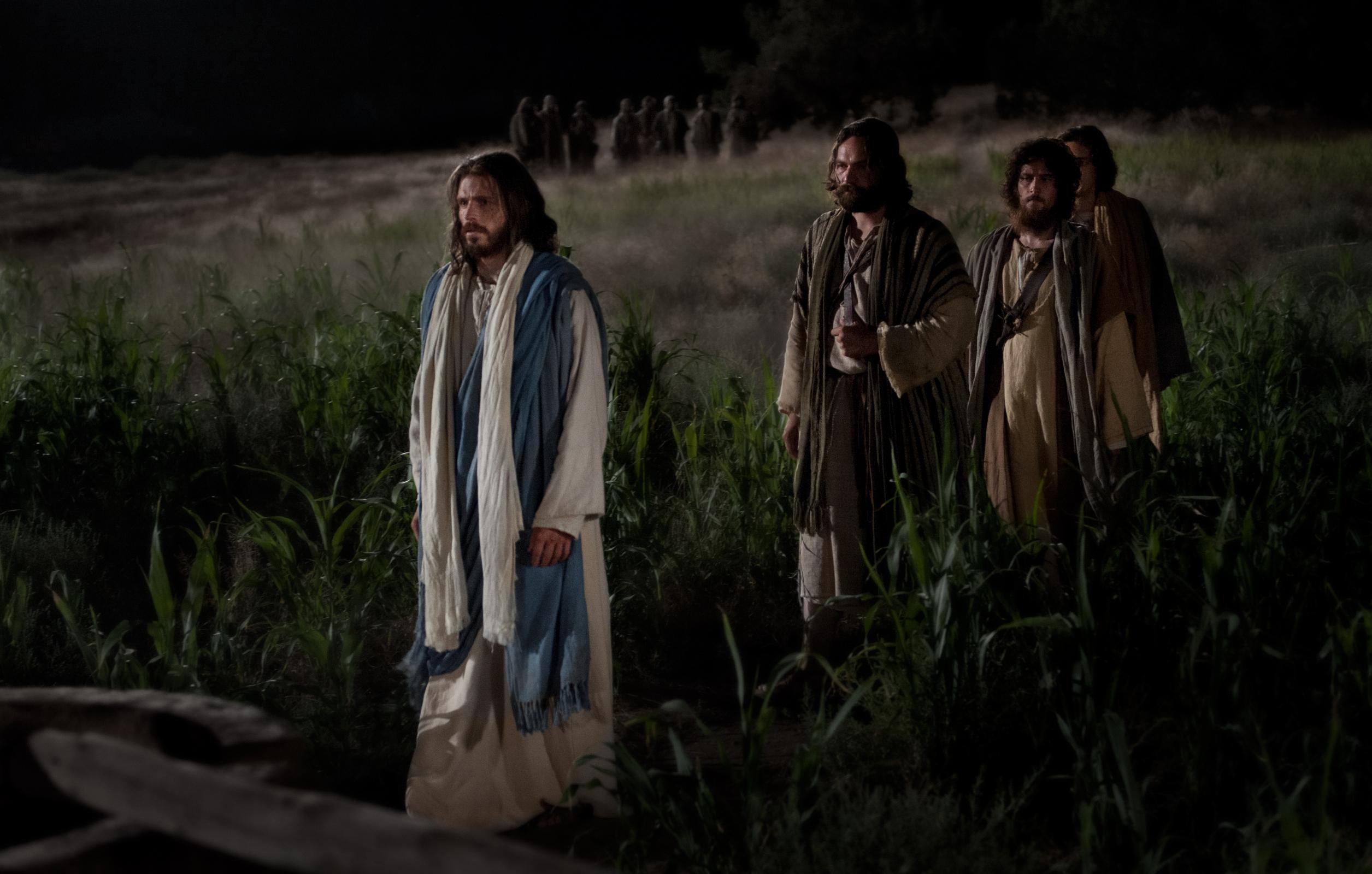Christ Walks into the Garden