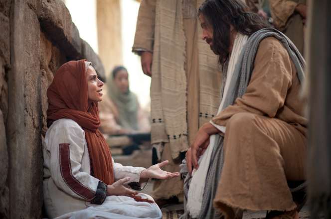 Mark 5:22–43, Christ converses with a woman of great faith