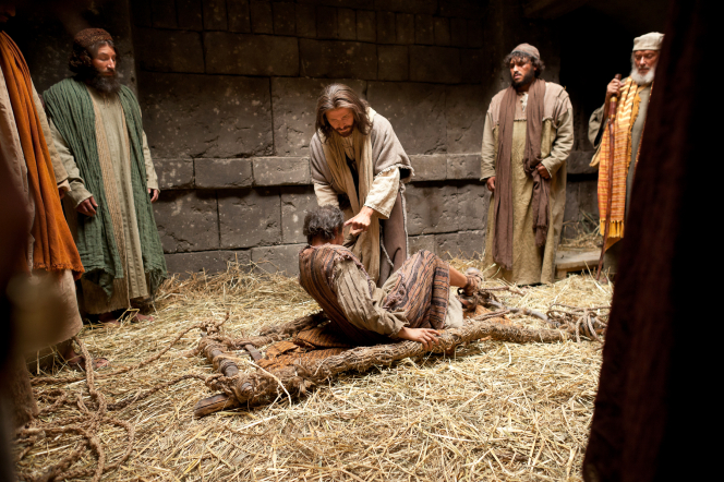 Mark 2:1–12, Jesus heals man with palsy
