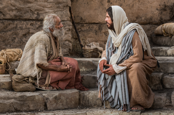 John 5:2–12, Jesus speaks with the lame man by the pool
