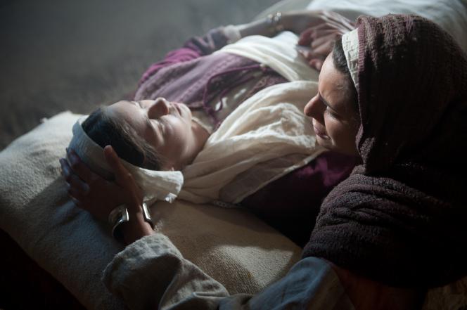 Mark 5:22–24, 35–43, Jairus's wife mourns her daughter's death