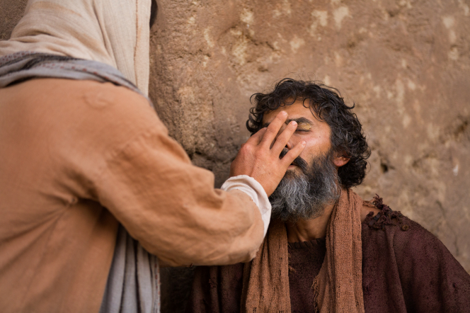 John 9:1–41, Christ heals a blind man with clay