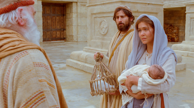Luke 2:1–20, Mary and Joseph present Jesus at the temple