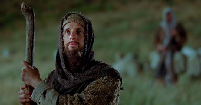 Luke 2:8–15, A shepherd standing in a field