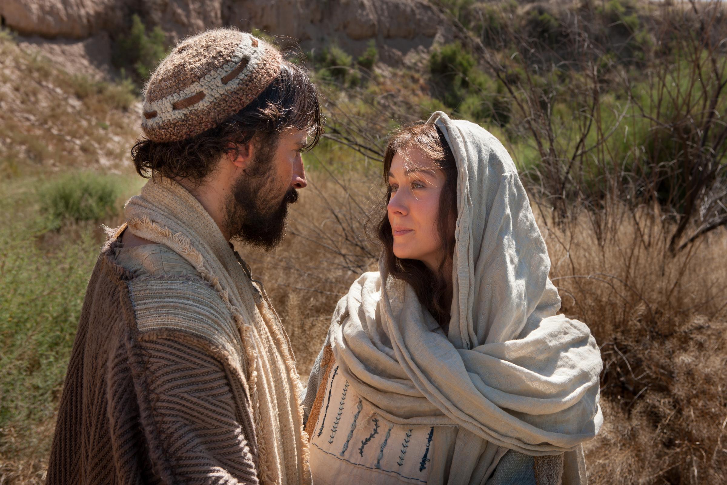 María y José viajan a Belén