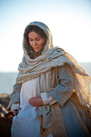 Luke 2:4–6, Mary riding to Bethlehem