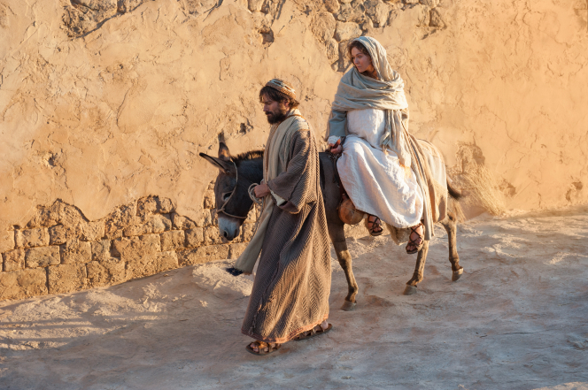 Luke 2:4–6, Mary and Joseph enter Bethlehem