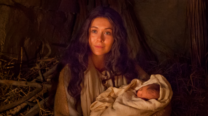 Luke 2:6–7, The virgin Mary with baby Jesus