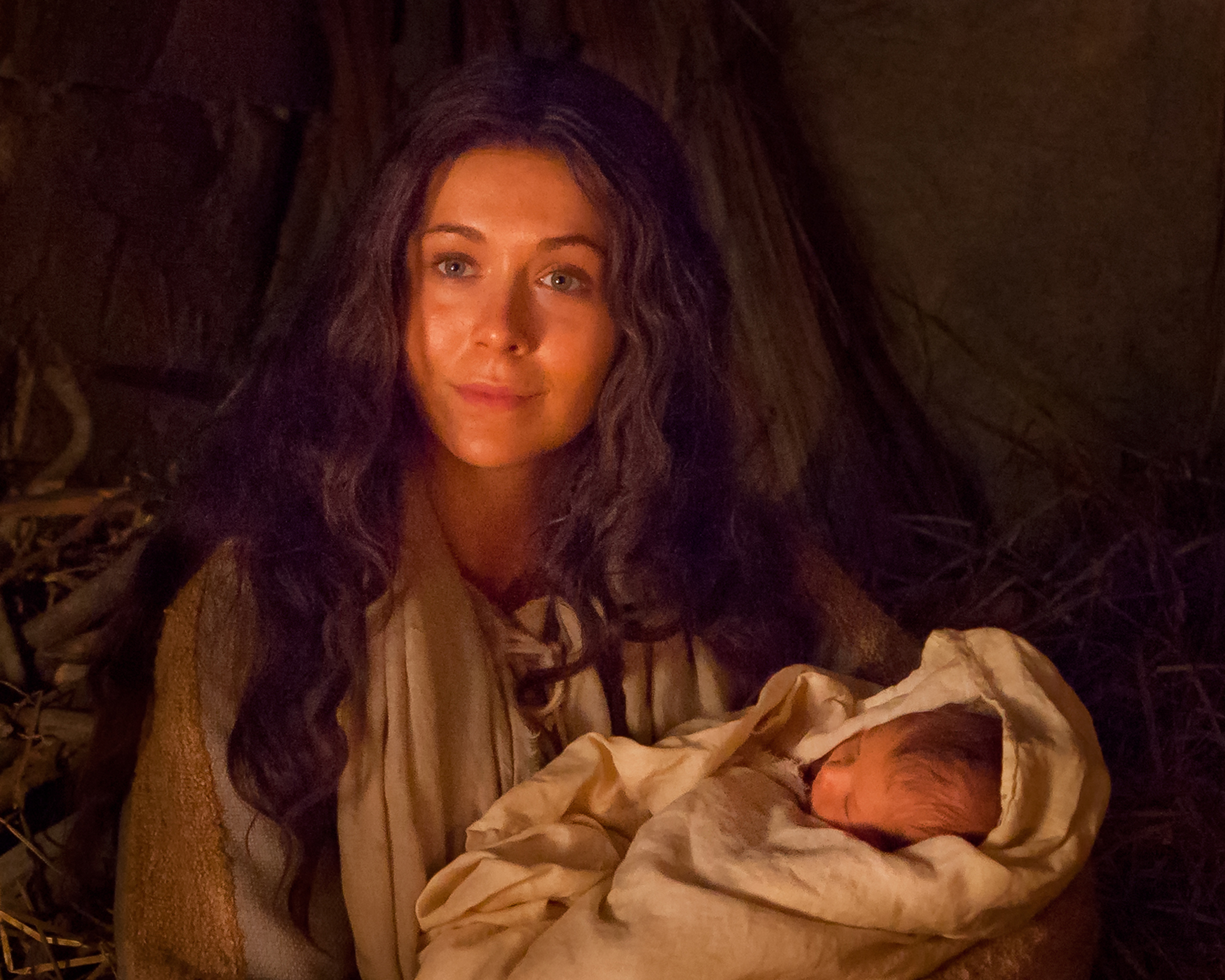 Image result for mary and jesus in the stable