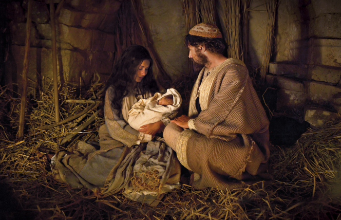 Luke 2:6–7, The holy family