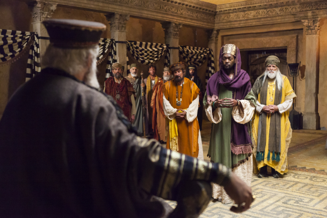 Matthew 2:1–8, The Wise Men meet King Herod