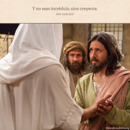 Juan 20:27, Debemos ser creyentes