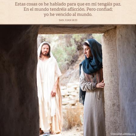 Juan 16:33, Jesucristo ha superado al mundo, para que podamos encontrar paz en Él