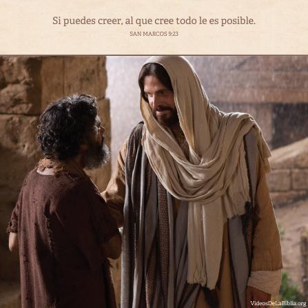 Marcos 9:23, Con fe todo se puede lograr