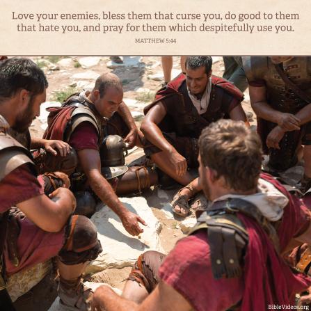 Matthew 5:44, We should love our enemies