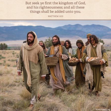 Matthew 6:33, We must seek heaven before riches