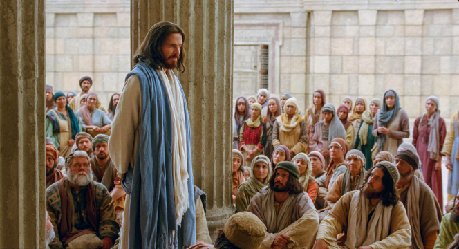 Matthew 21:23–32, Christ teaches in the temple