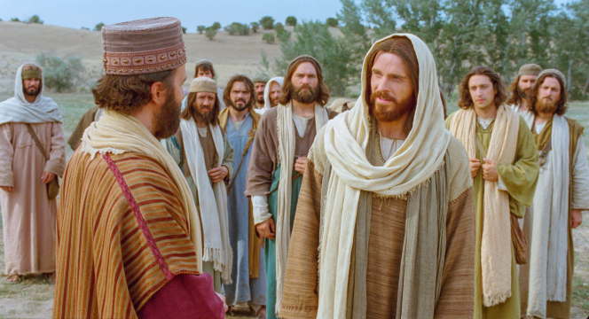 Matthew 19:16–26, The rich young ruler asks Jesus a question