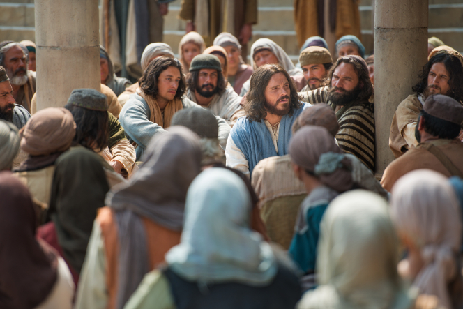 Mark 12:28–34, Jesus teaches about the greatest commandment