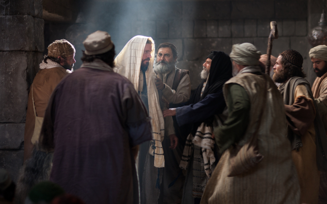 Luke 4:15–30, Jesus is escorted out of the temple