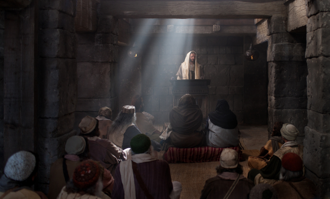 Luke 4:15–30, Jesus declares He is the Messiah