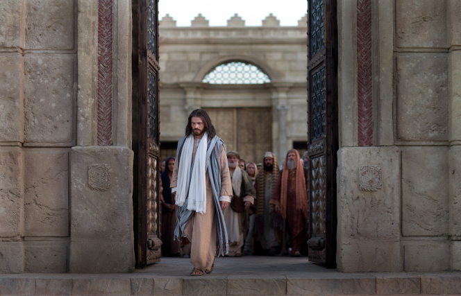 John 8:12–58, Jesus exits the temple