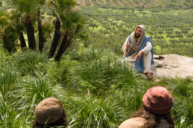 Matthew 25:31–46, Jesus sits and teaches His gospel