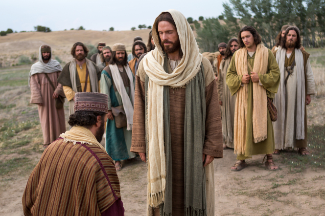 Matthew 19:16–26, Christ talking to the rich young ruler