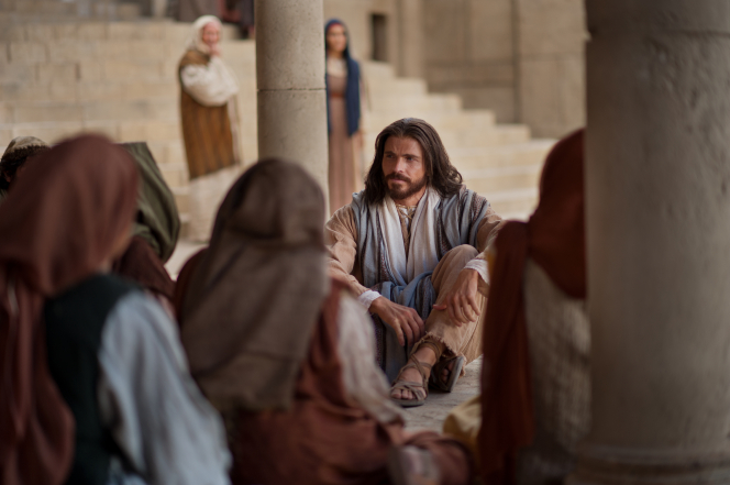 Matthew 5:38–42, Christ teaches people to turn the other cheek