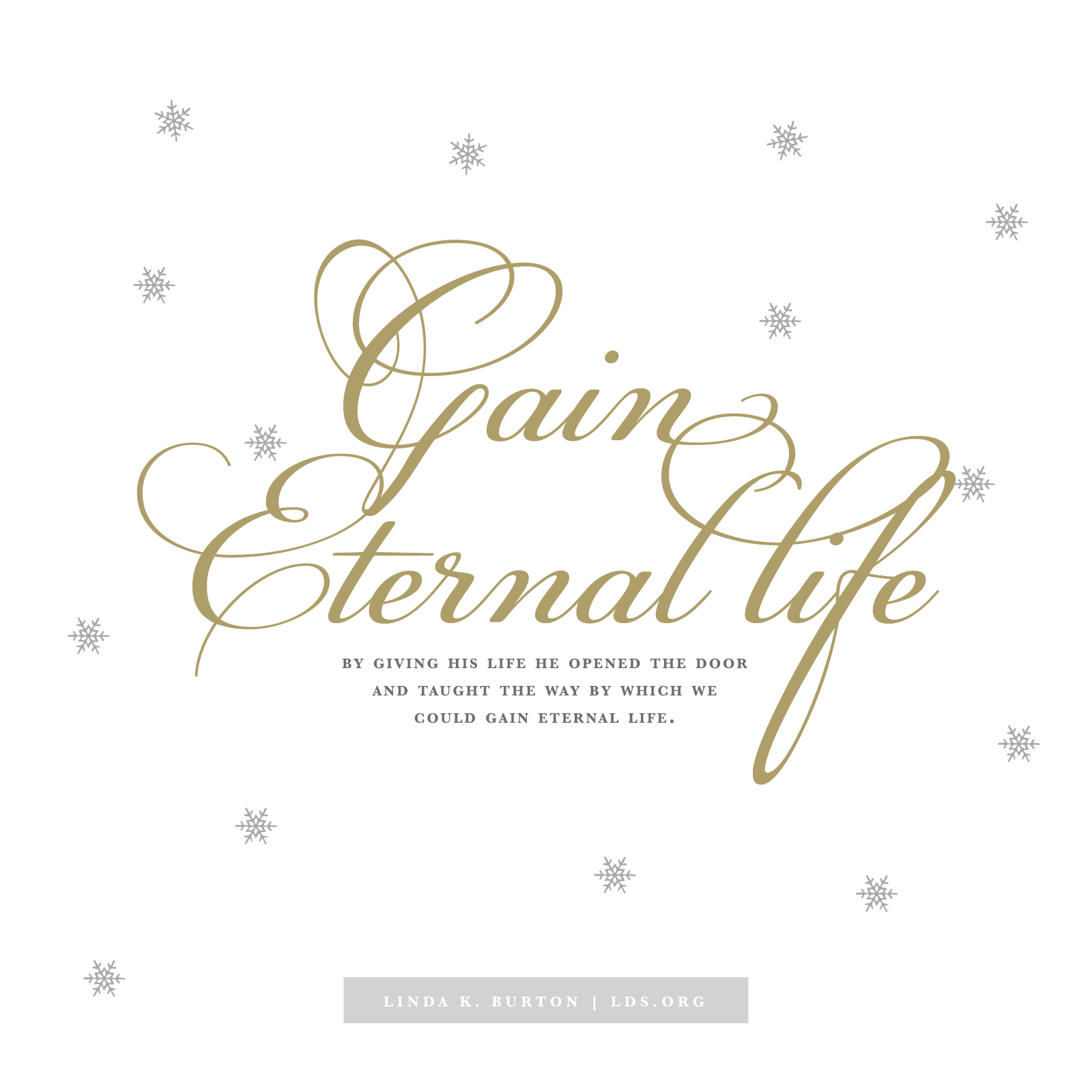 Gain Eternal Life