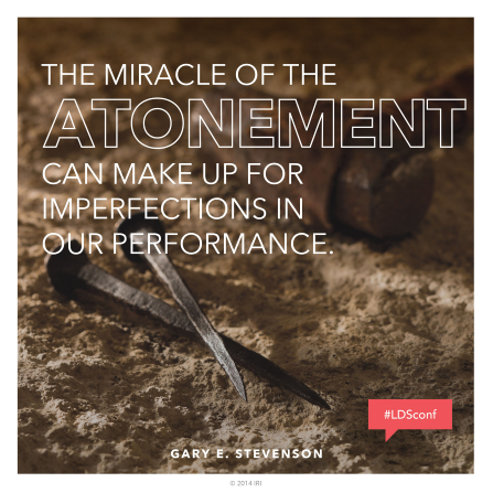 "An image of two old-fashioned nails paired with a quote by Bishop Gary E. Stevenson: ""The Atonement can make up for imperfections."""