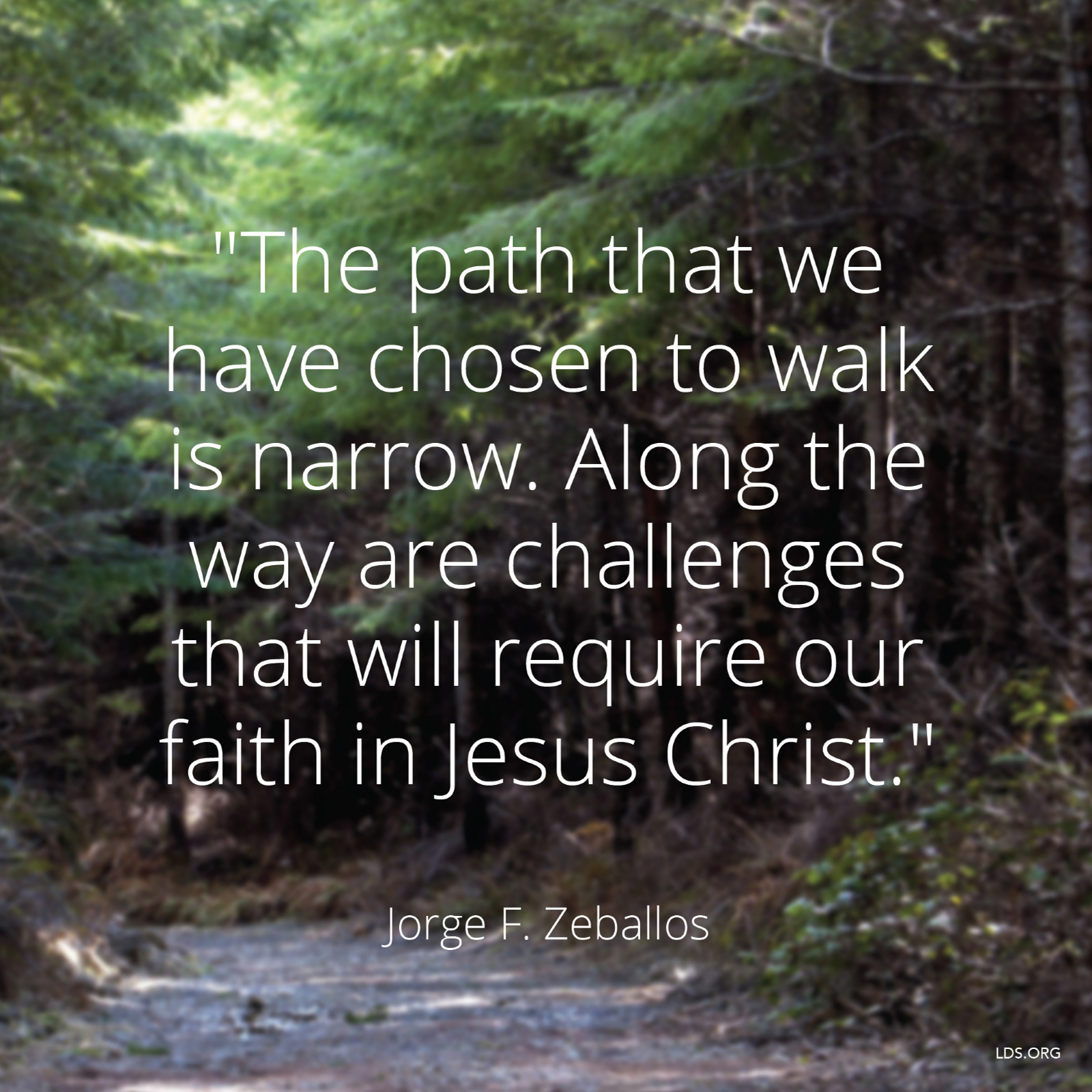 Lds Quotes On Faith The Path We Have Chosen