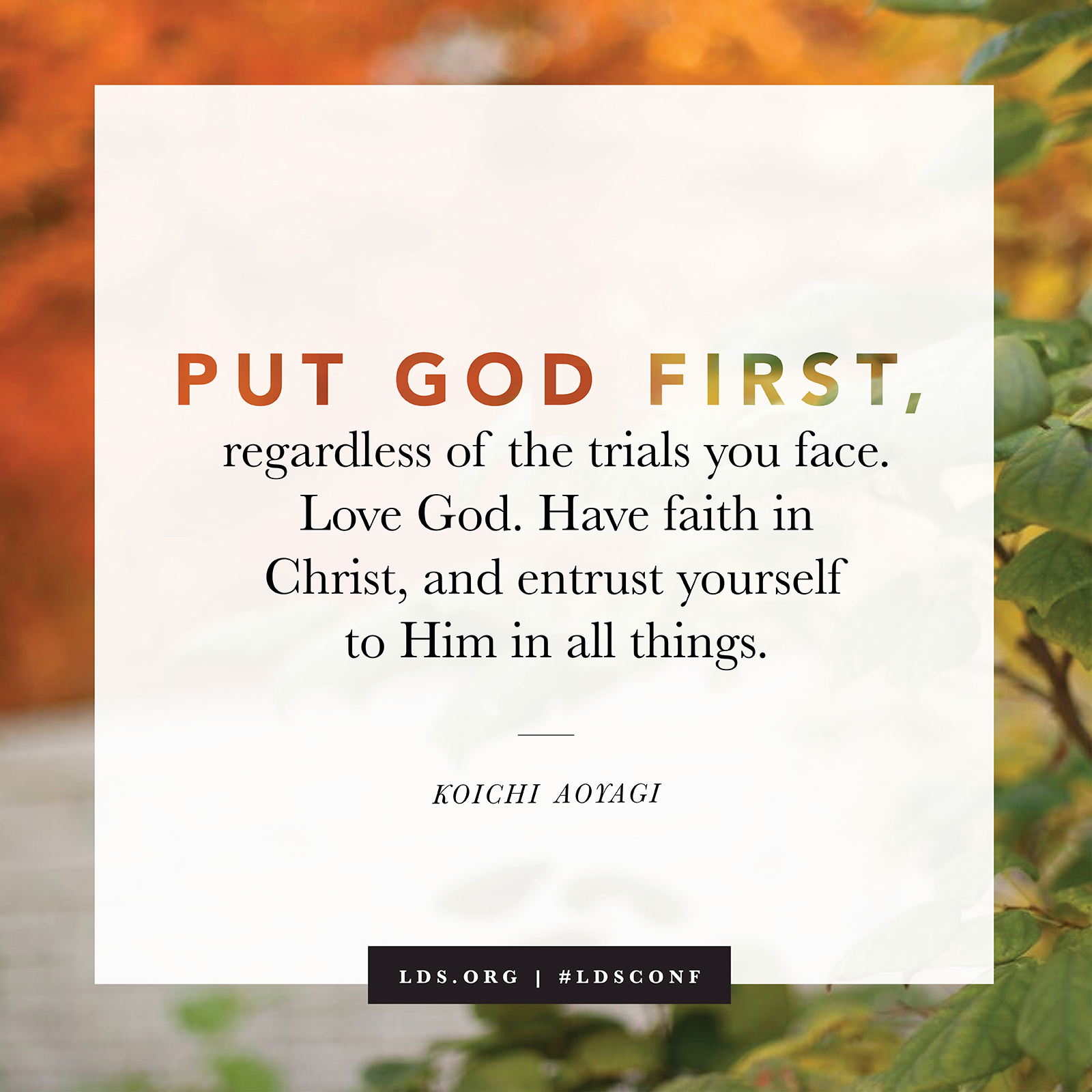 Lds Quotes On Faith Put God First