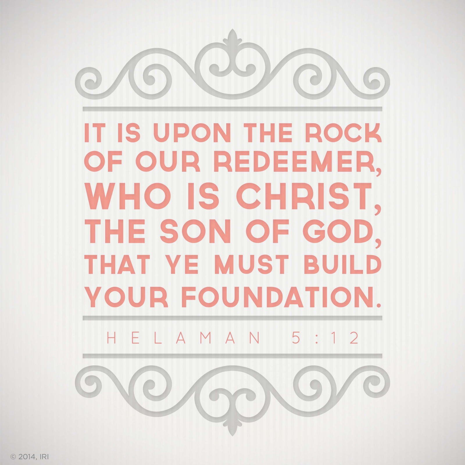 Foundation Quotes Upon The Rock Of Our Redeemer