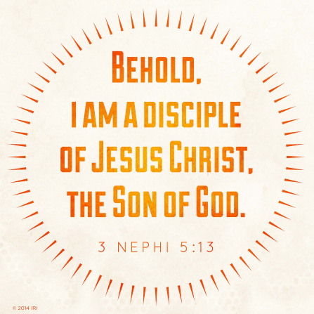 The text from 3 Nephi 5:13 in orange letters over a neutral off-white background.