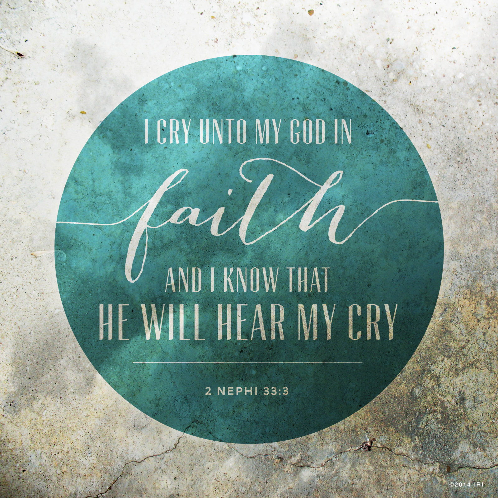 Cry unto God in Faith