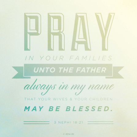 Pray in Your Families